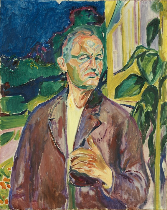 Edvard Munch, Self-Portrait in Front of the House Wall, 1926 © Munch Museum/Munch-Ellingsen Group/BONO