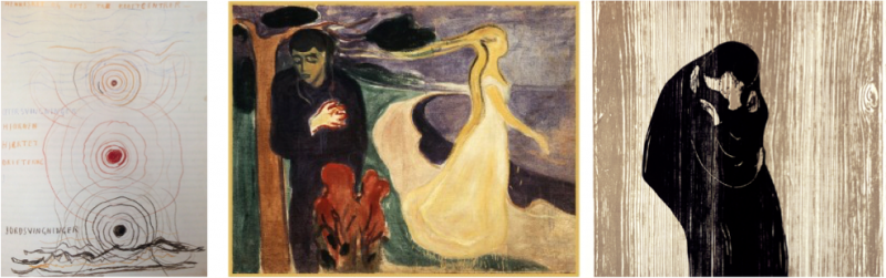 Edvard Munch: Notes, Separation, The Kiss © Munch Museum / Munch-Ellingsen Group / BONO, Oslo 2012