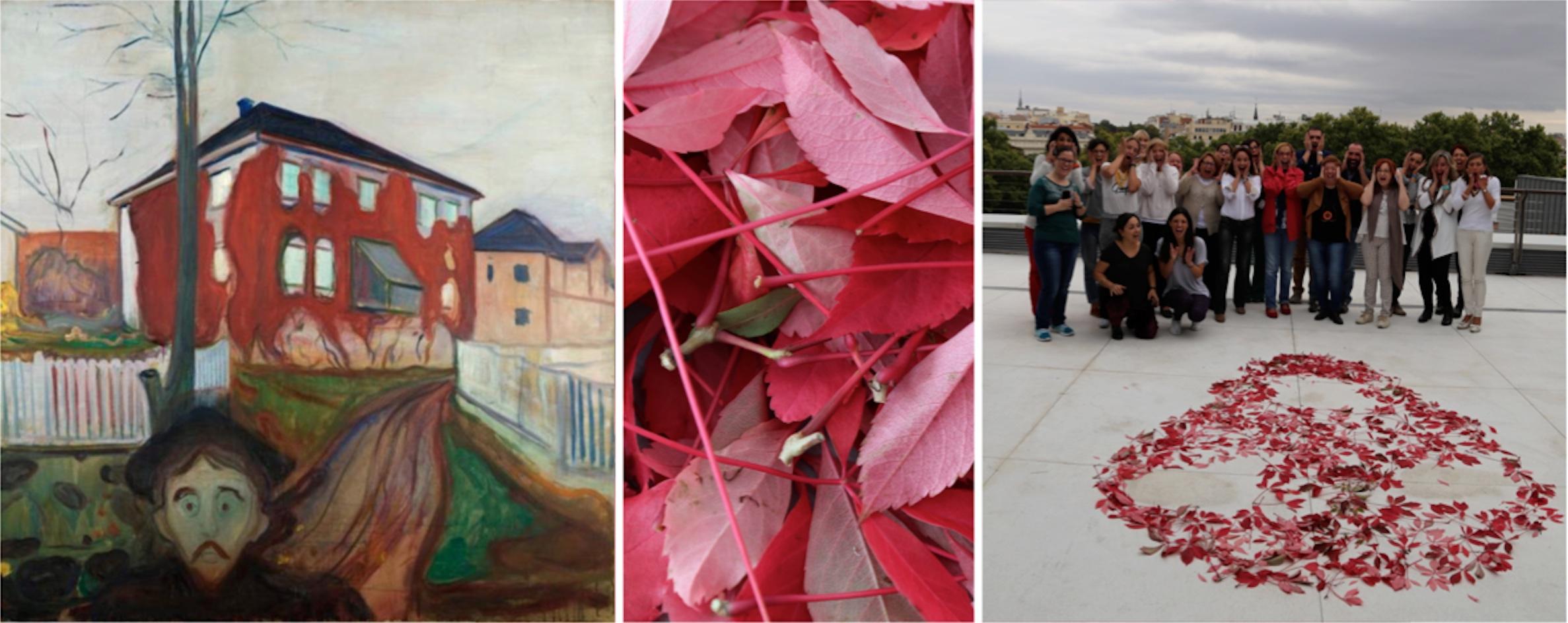 Munch: Enredadera roja 1898 © Munch-Ellingsen Group. Un Grito de la Naturaleza con enredaderas rojas at EducaThyssen